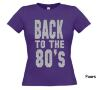 foto 9 back to the 80ties t-shirt korte mouw glitter zilver