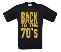 back to the 70ties t-shirt korte mouw glitter goud