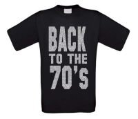 back to the 70ties t-shirt korte mouw glitter zilver