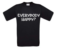 everybody happy t-shirt korte mouw