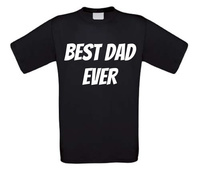 best dad ever vaderdag t-shirt korte mouw