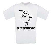 Geen gemekker t-shirt korte mouw geit