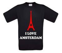 I love amsterdam shirt korte mouw eiffeltoren