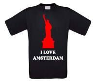 I love amsterdam shirt korte mouw vrijheidsbeeld