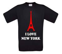 i love new york shirt korte mouw eiffeltoren