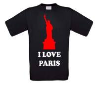 i love paris t-shirt korte mouw
