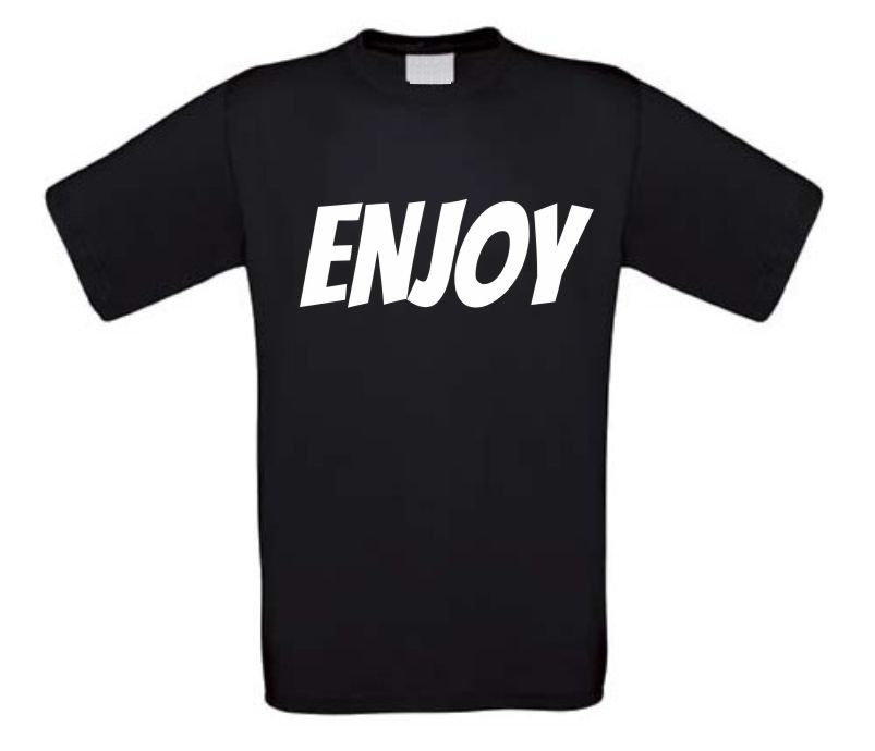 enjoy t-shirt korte mouw