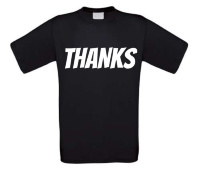 thanks t-shirt korte mouw