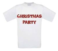 Christmas party t-shirt korte mouw glitter rood