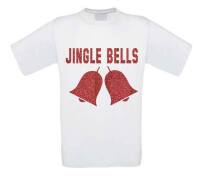 jingle bells glitter rood t-shirt korte mouw