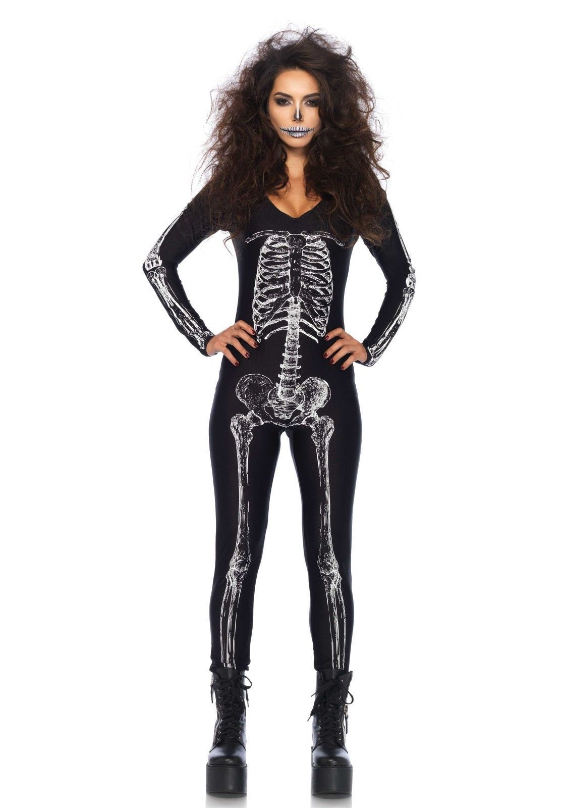 X-Ray Skeleton Catsuit dames halloween