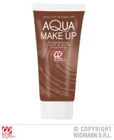 Aqua make up  in tube 30ml  bruin
