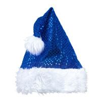 Christmas kerstmuts glitter blauw
