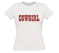 Cowgirl t-shirt korte mouw glitter rood