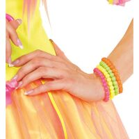 party disco girl neon geparelde armband
