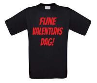 Fijne valentijnsdag t-shirt korte mouw