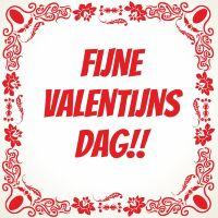 Fijne valentijnsdag tegel