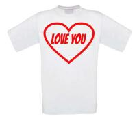 i love you hart t-shirt valentijn korte mouw