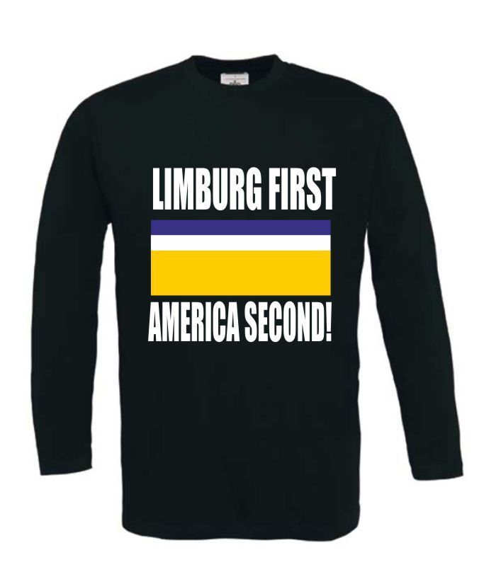 limburg first america second t-shirt lange mouw