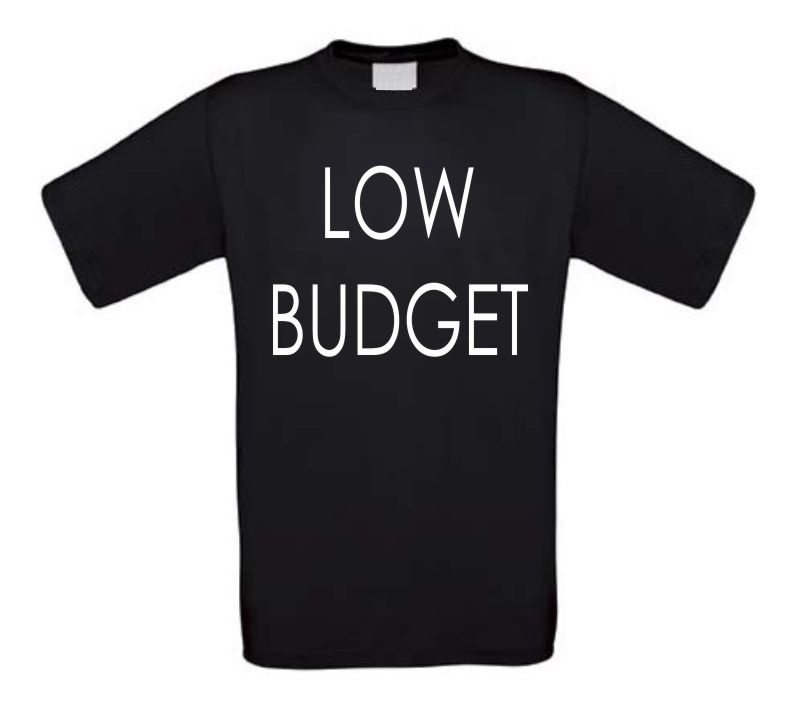 low budget t-shirt korte mouw