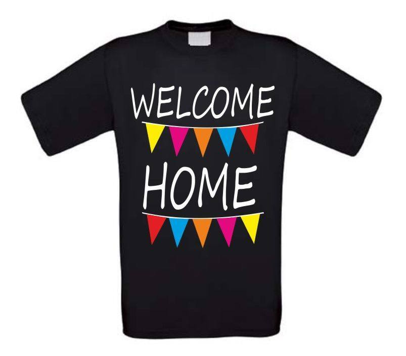 welcome home t-shirt korte mouw