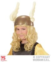 Astrix pruik kind met snor viking blond