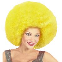 Disco soul groovy afro pruik geel groot