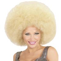 Disco soul groovy afro pruik blond groot