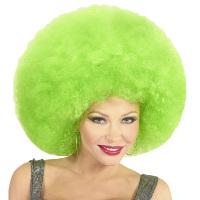 Disco soul groovy afro pruik groen groot
