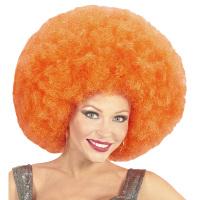 Disco soul groovy afro pruik oranje groot