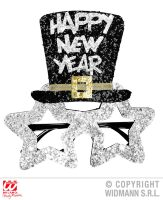 happy new year bril zilver