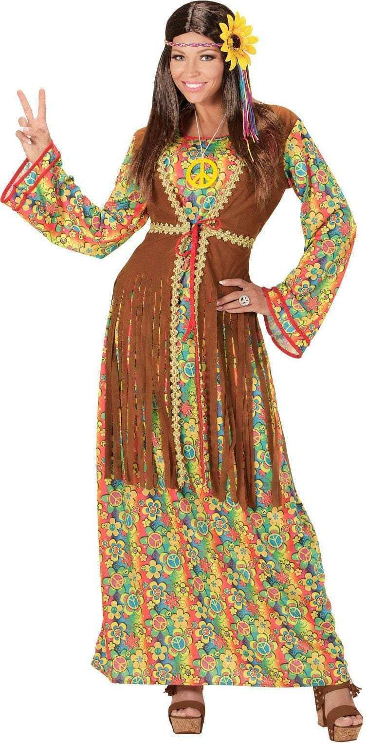 d9c009449f063d Hippie flower power jurk dame peace lang model