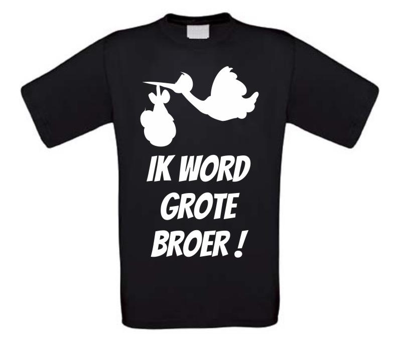 Uitzonderlijk Ik word grote broer gezinsuitbreiding T-shirt @QJ35