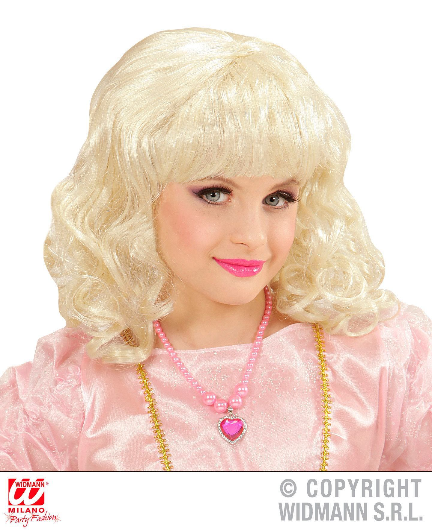 Pruik prinses blond  kind