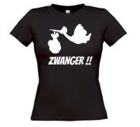 Zwanger ooievaar t-shirt korte mouw dames model