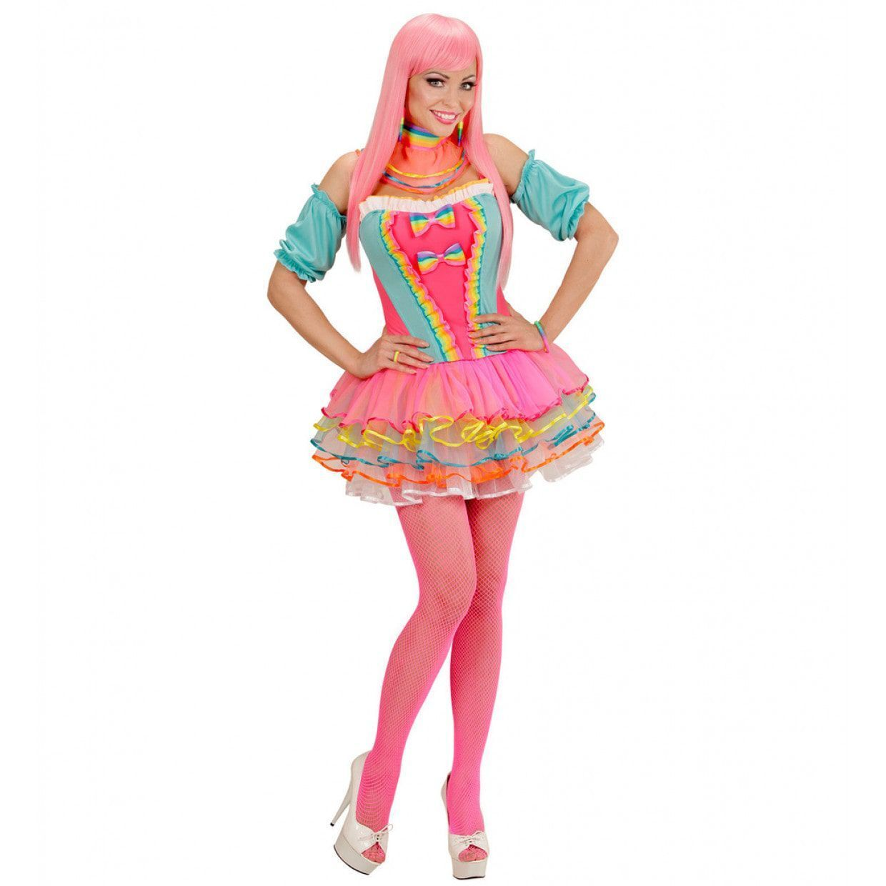 Candy fantasie dames outfit rainbow