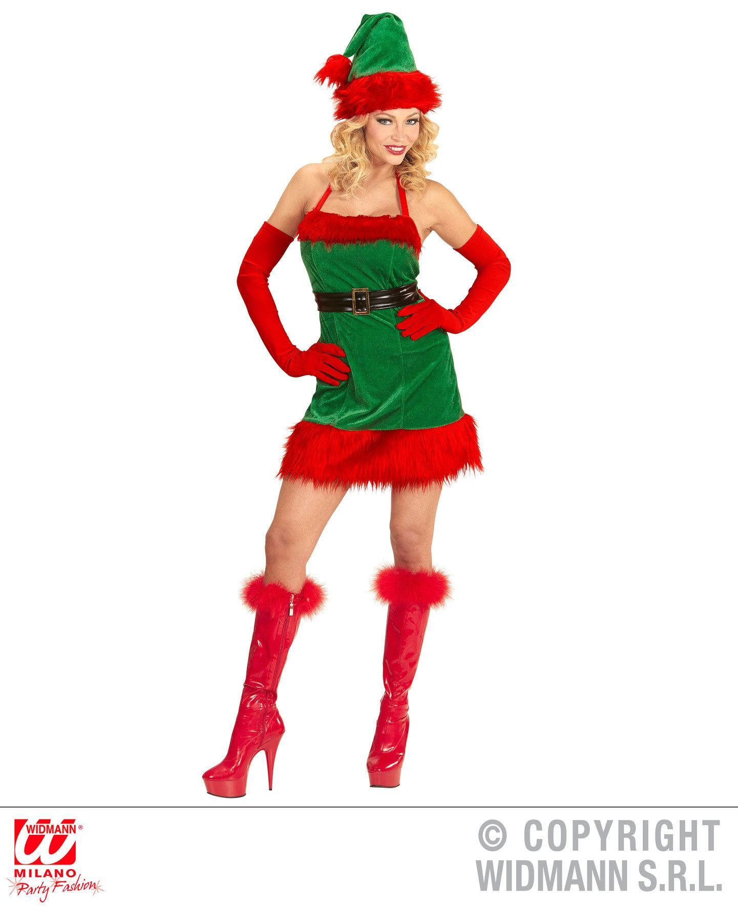 Sexy Santa little helper elf outfit dame