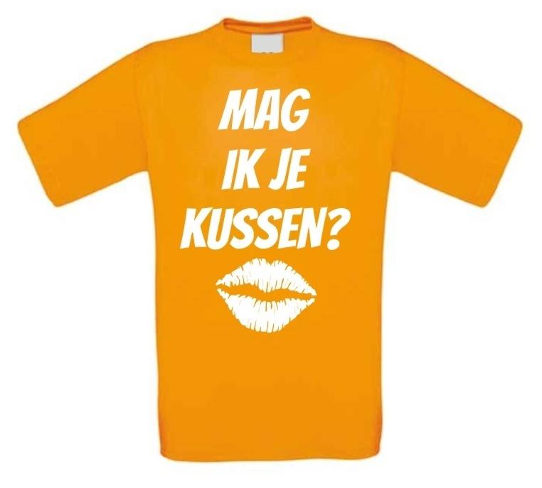 Mag ik je kussen t shirt voordelig bij for Mag je een overledene kussen