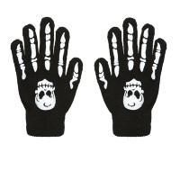 Handschoenen met botten en schedel