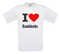 I love Koudekerke t shirt