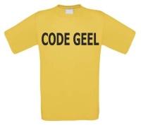 Code geel t-shirt