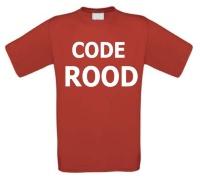 Code rood t-shirt