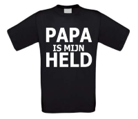papa is mijn held t-shirt