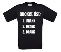 bucket list drank t-shirt