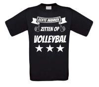 Echte mannen zitten op volleybal t-shirt