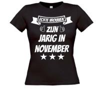Echte vrouwen zijn jarig in november t-shirt