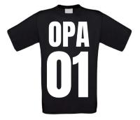 Opa nummer 1 t-shirt