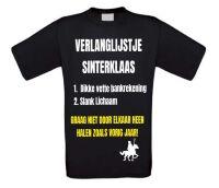 Verlanglijstje Sinterklaas T-shirt