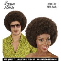Afro pruik bruin volwassen disco