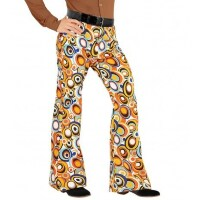 70's Disco broek heren bubbels retro